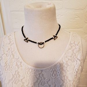 Jewelry - Beaded Necklace with Metal Shapes